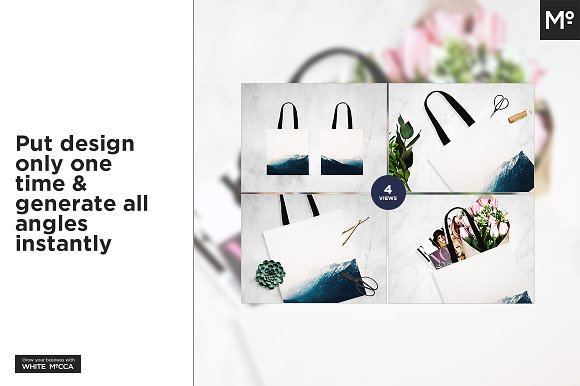 Canvas Tote Bag Mock-ups Set  in Product Mockups - product preview 1