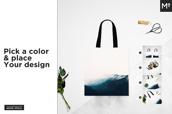 Canvas Tote Bag Mock-ups Set in Product Mockups - product preview 3