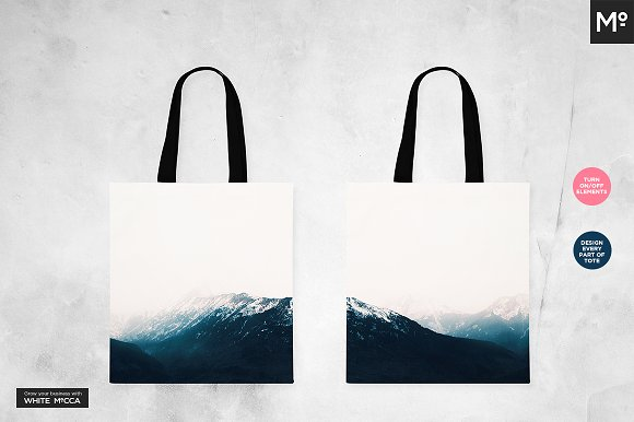 Canvas Tote Bag Mock-ups Set in Product Mockups - product preview 4