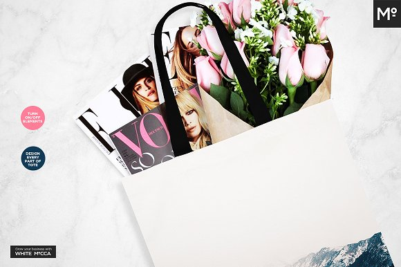 Canvas Tote Bag Mock-ups Set  in Product Mockups - product preview 5