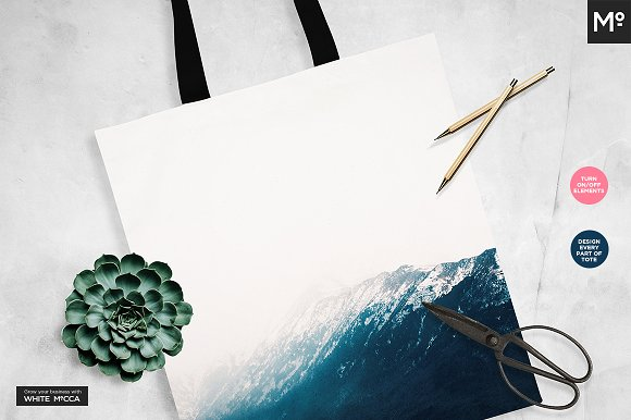 Canvas Tote Bag Mock-ups Set  in Product Mockups - product preview 6