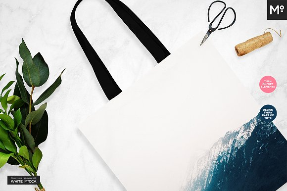 Canvas Tote Bag Mock-ups Set  in Product Mockups - product preview 7
