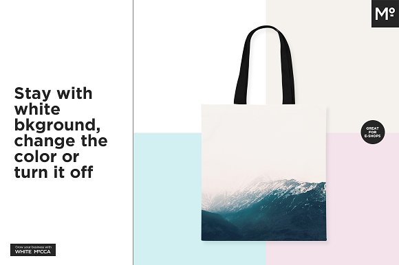 Canvas Tote Bag Mock-ups Set in Product Mockups - product preview 8
