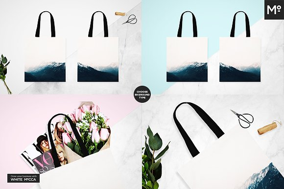 Canvas Tote Bag Mock-ups Set  in Product Mockups - product preview 9