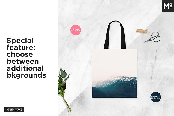 Canvas Tote Bag Mock-ups Set  in Product Mockups - product preview 10