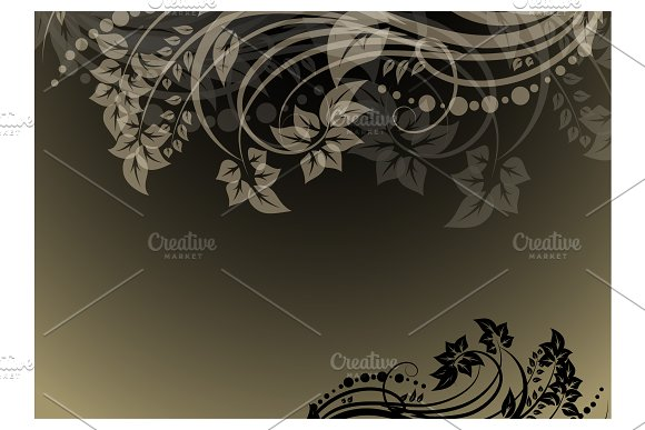 Abstract floral background in Illustrations - product preview 1