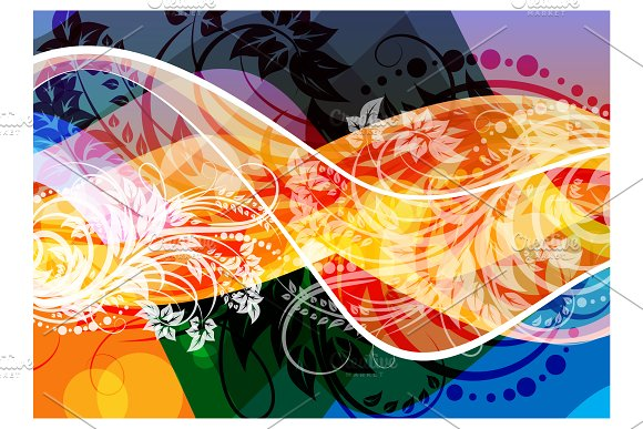 Detailed wave abstract background in Illustrations - product preview 1