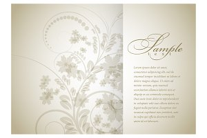 Floral background for brochure