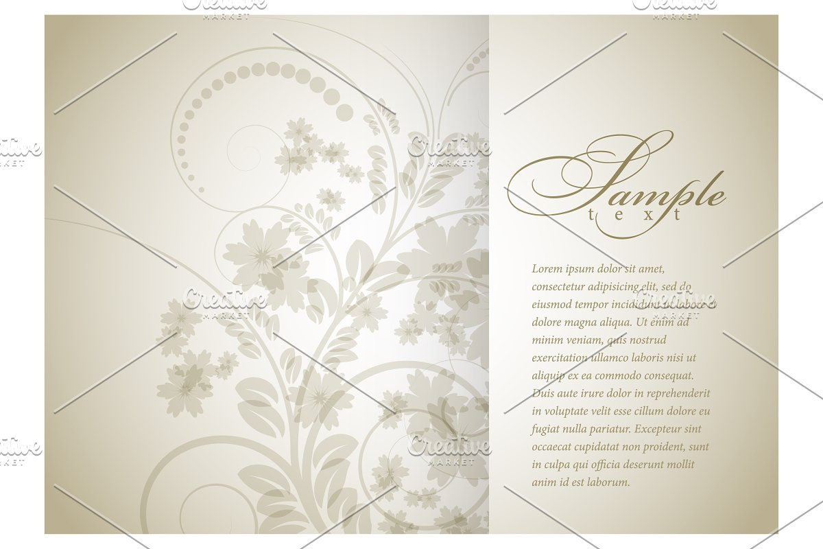 Floral background for brochure in Illustrations - product preview 1
