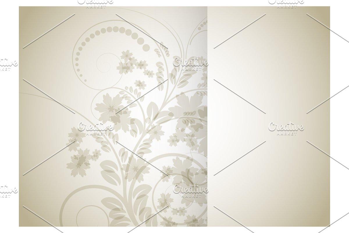 Floral background for brochure in Illustrations