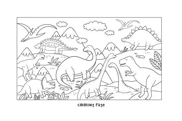 Cool Dinosaur pattern  in Patterns - product preview 2