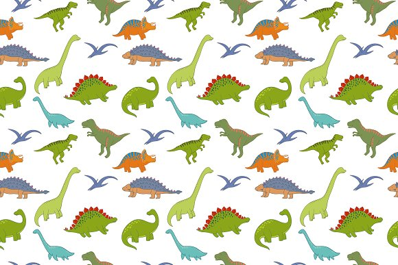 Cool Dinosaur pattern  in Patterns - product preview 3