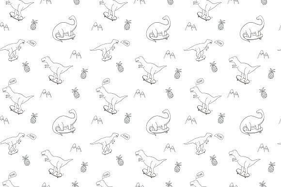 Cool Dinosaur pattern  in Patterns - product preview 4