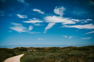 Sky with clouds and sea views
