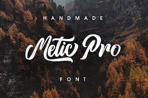 Metic Pro - Handmade Font