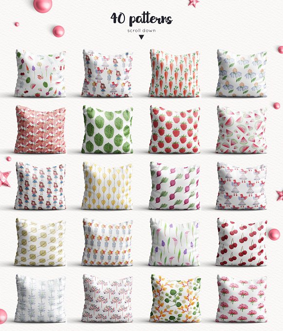 Baby Girl objects and patterns set in Illustrations - product preview 2