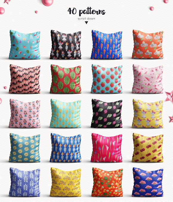 Baby Girl objects and patterns set in Illustrations - product preview 3