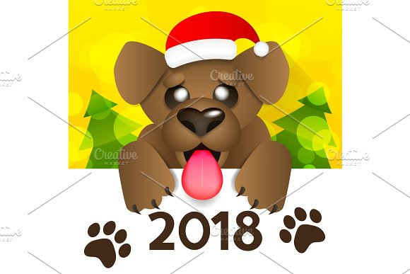 Happy New Year 2018 in Illustrations