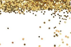 Gold dot glitter texture