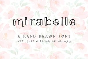 Mirabelle: A Hand Drawn Font