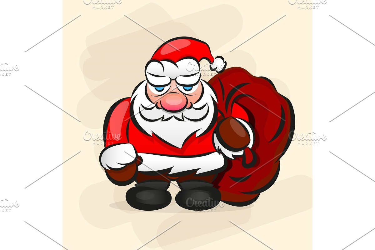 Classic Santa In Red Suit. in Illustrations - product preview 8