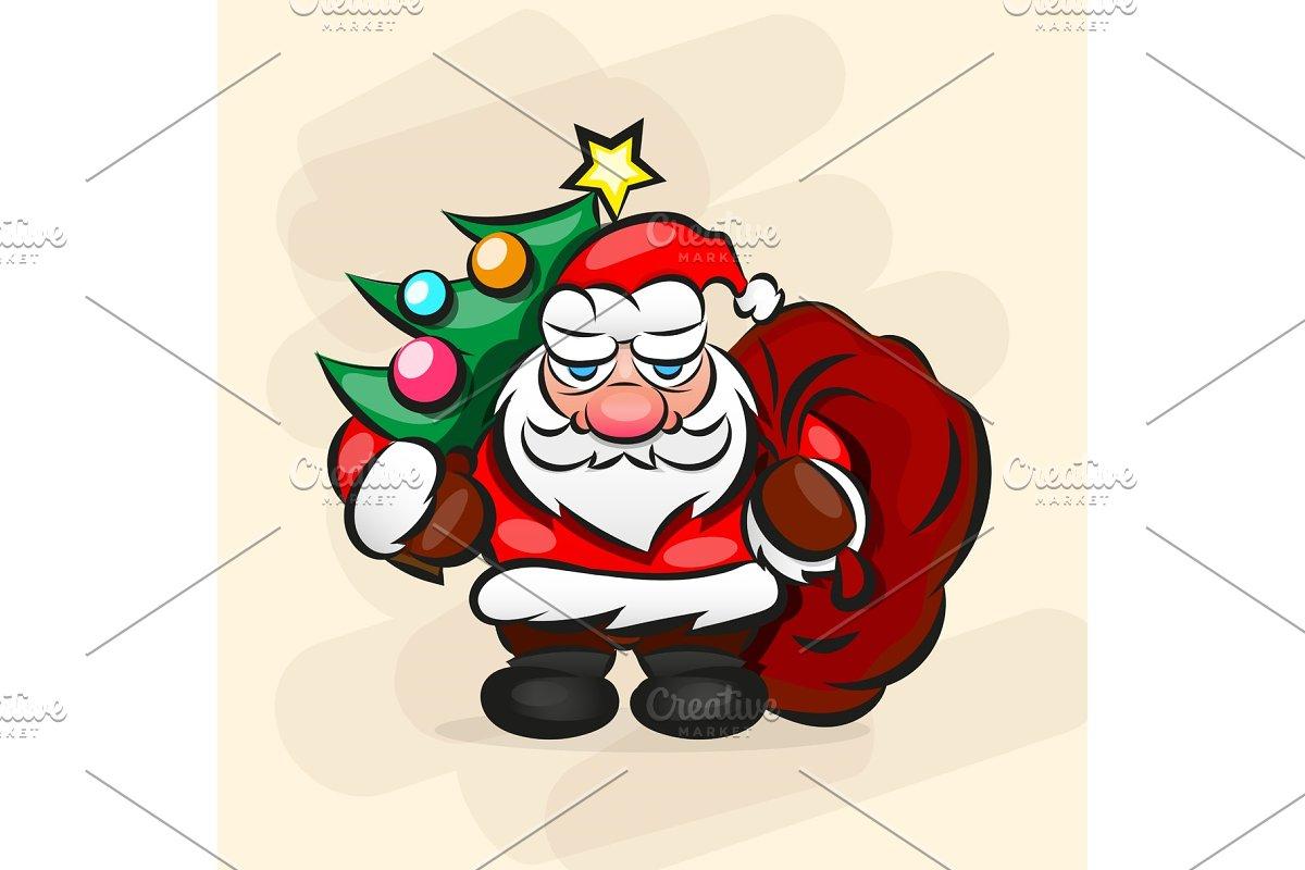 Classic Santa In Red Suit. in Illustrations
