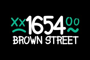 1654 Brown Street - Fonts