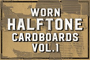 Worn Halftone Cardboards Vol. 1