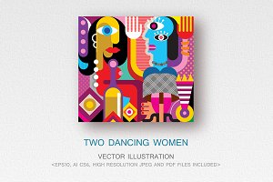 Two Dancing Women