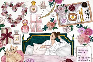 Love and Breakfast Fashion Clip Art