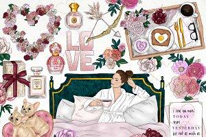 Love and Breakfast Fashion Clip Art