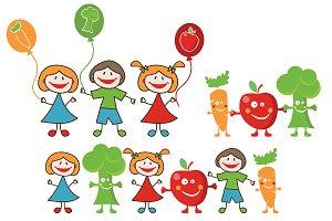Doodle happy kids