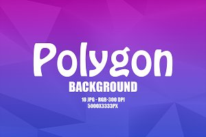 10 Colorful Polygon Backgrounds