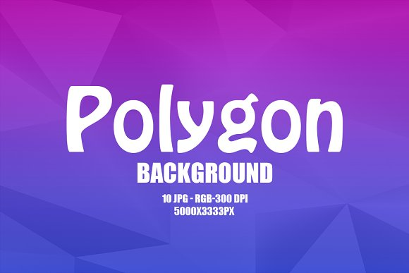 10 Colorful Polygon Backgrounds in Product Mockups