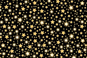 Abstract golden starfall pattern