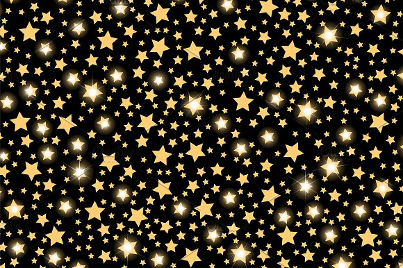 Abstract golden starfall pattern in Patterns