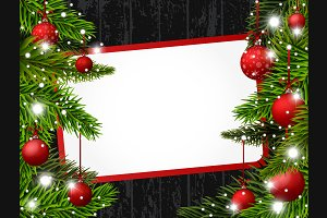 Vector Red Christmas banner