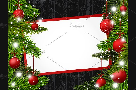 Vector Red Christmas banner in Illustrations