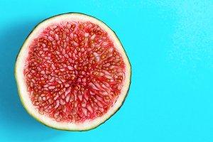 Macro photo of half figs