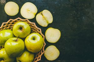 Apples for vegetarians. Sliced vitamins