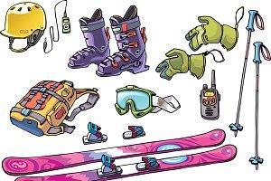 Backcountry Freeride Skier's Stuff