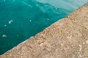 Texture of water and concrete