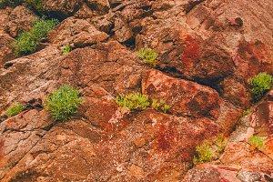 Mountain texture. Durable stone.