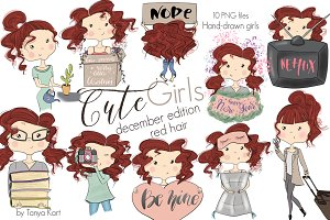 Cute Girls December Edition Red Hair