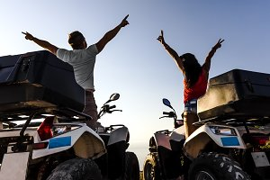loving on quad bikes