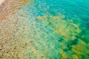 Texture of water. Seawater offshore