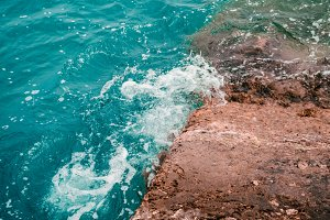 A whirlpool of sea water. Texture and background