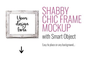 Styled stock photo frame mockup