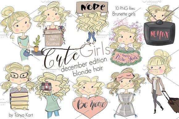 Cute Girls December Edition Blonde  in Illustrations