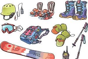 Snowboard Freerider's Stuff